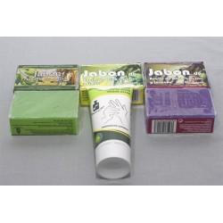 Jabon y Crema de manos de aceite ecologico Olivares L. Gomez