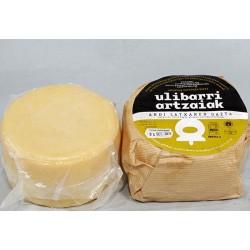 Queso Ulibarri curado ecologico leche cruda de oveja
