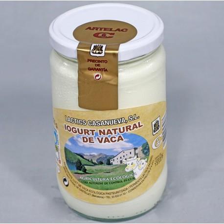 Yogurt ecologico de vaca Artelac